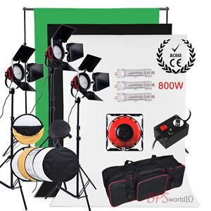 2400W Video Red Head Readhead Lighting Kit 3 Backdrop Background Stand Reflector - <span itemprop=availableAtOrFrom>Warsaw, Polska</span> - Zwroty są przyjmowane - Warsaw, Polska