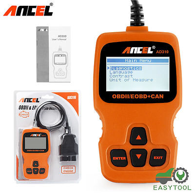 Ancel Ad310 Automative Scanner Obd2 Code Reader Car Engine Diagnostic Scan Tool