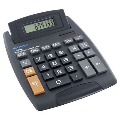 New Large Desktop Calculator 8 Digit Black Large display School Home Office AU