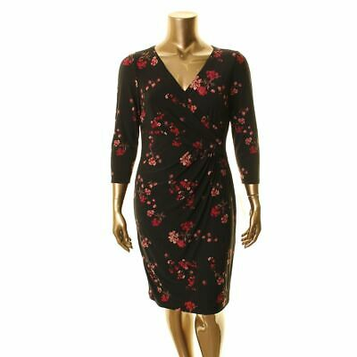 LAUREN RALPH LAUREN NEW Women's Cleora Floral Faux Wrap Dress TEDO