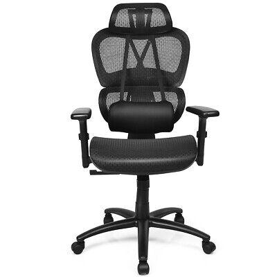 Mesh Office Chair Recliner High Back Design Adjustable Headrest Lumbar