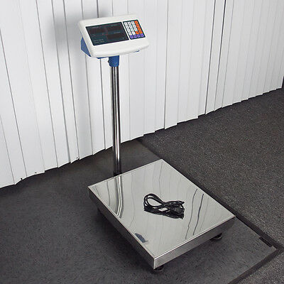 600 LB Weight Computing Scale Digital Floor Platform Shipping Warehouse Postal