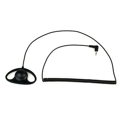 2.5MM Listen Only D-Shape Radio Earhook Earpiece Headset+Mic speaker Universal