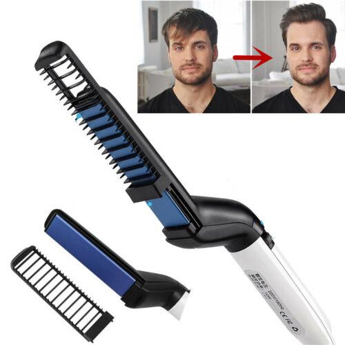 Multi Styler Haarglätter Bürste Lockenbürste Glätteisen Elektrisch Bart Haarkamm
