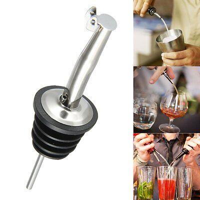 Liquor Spirit Pourer Flow Wine Bottle Pour Spout Stopper Stainless Steel W Cap