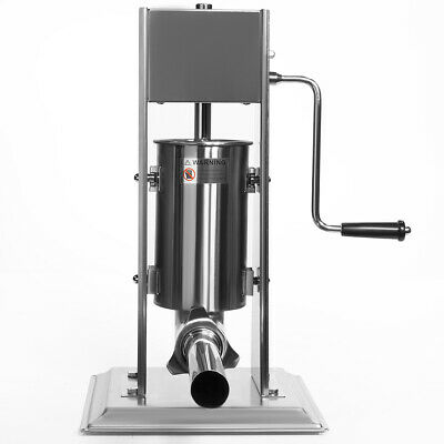 Vertical Sausage Stuffer Sausage Maker Hand Crank Stainless Steel 5-pounds
