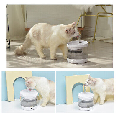 1.6L Automatic Water Dispenser Dog Cat Pet Drinking Fountain Bowl Dish Clear - $28.99