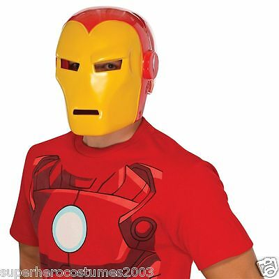 The Invincible Iron Man Klassisch Erwachsene Helm Superheld Kostüm Brandneu (Kunststoff Iron Man Kostüm)