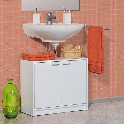 Moderne Holz Türen (Galdem Waschbeckenunterschrank 2 Türen Badezimmerschrank Badmöbel Holz Weiß)