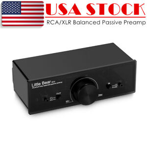 Nobsound XLR/RCA Balanced Passive Preamp Pre-Amplifier Audio Volume Controller