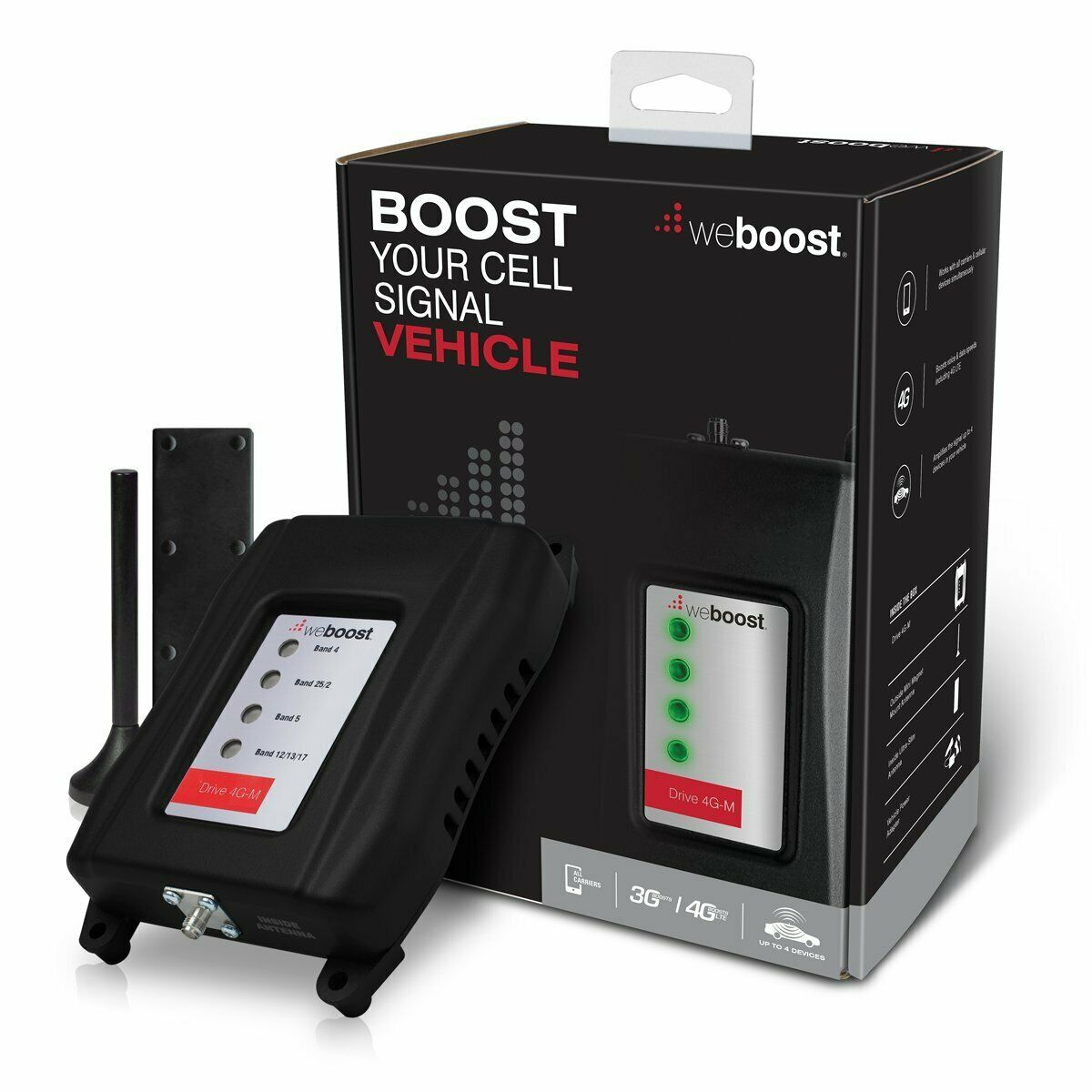 Weboost - Drive 4g-m Cellular Signal Booster - Black