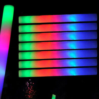 100/200 PCS Flashing Glow Foam Sticks Light Up LED Wands Batons DJ,Free US Ship - Foam Sticks