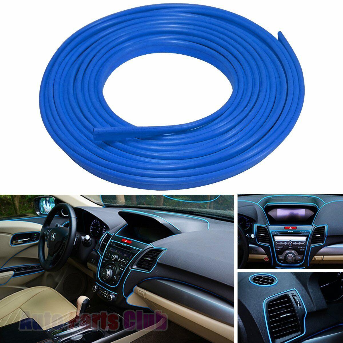 Car Parts - Tiras De Molduras Azul Accesorios Decoracion Para Carro Carros Exterior Interior