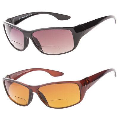 Wrap Around Bifocal Sunglasses Sport Sun Reader Reading Glasses Men Women 1.5 (Sports Reading Glasses)