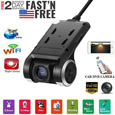 Wifi GPS Hidden Car DVR Camera Dash Cam Video Recorder Night Vision HD 1080P