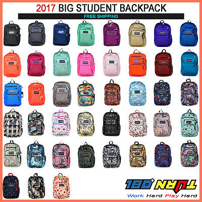 JANSPORT BIG STUDENT BACKPACK ORIGINAL 100% AUTHENTIC SCHOOL BOOK BAG NEW 2017