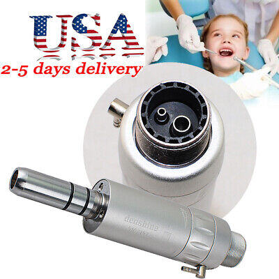 2holes Dental Air Motor For Slow Speed Handpiece Contra Angle Straight Nose Usa