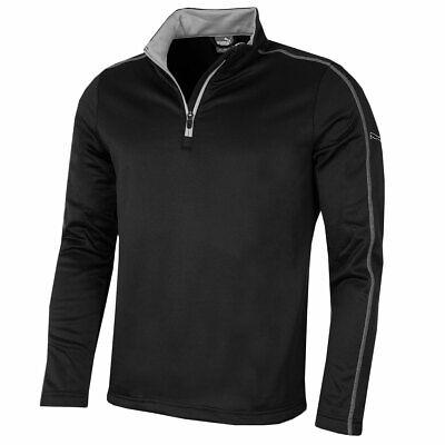 Puma Golf Mens Core Fleece 1/4 Zip Popover - Black - S