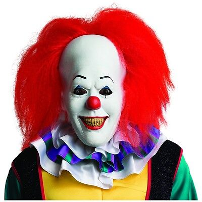 Pennywise Mask Adult Scary Clown It Halloween Costume Fancy Dress - It Clown Halloween Mask
