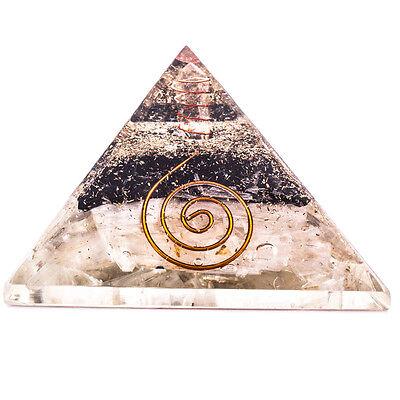 Tourmaline   Selenite Stone Orgone Pyramid Reiki Healing Energy Crystal Gift