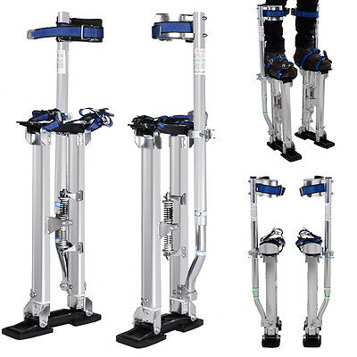 Aluminum Drywall Stilts Tool Stilt 18-30 Inch For Painting Painter Taping Silver