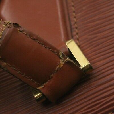 Louis vuitton epi duplex sac bandoulière marron m52423 lv authentique sg205
