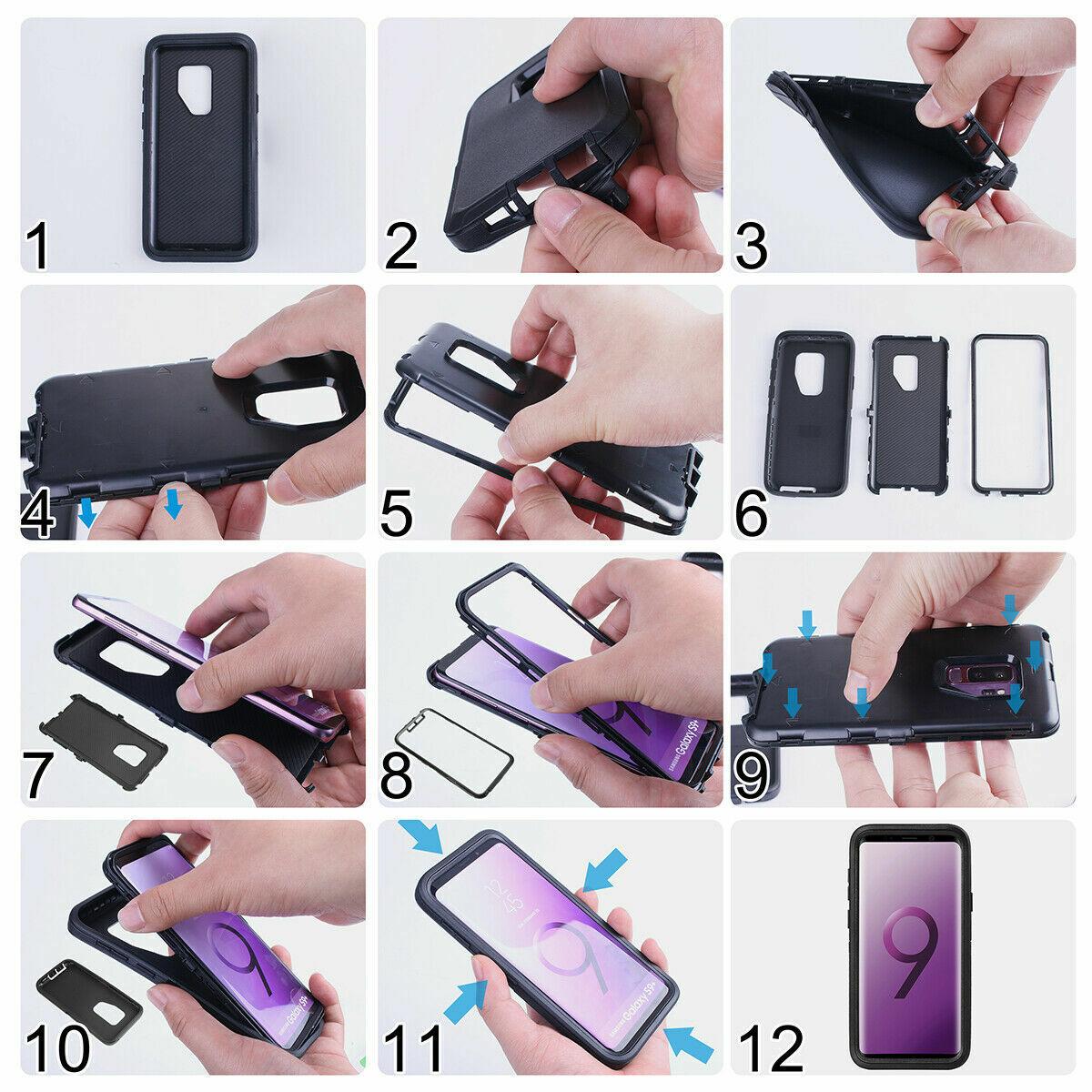 Купить Unbranded/Generic - For Samsung Galaxy S9 / S9 Plus Defender Case Rugged Shockproof w/ Belt Holster