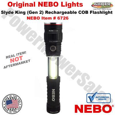 NEBO SLYDE KING 6726 Gen2 500 Lumen COB LED Rechargeable Flashlight & Worklight