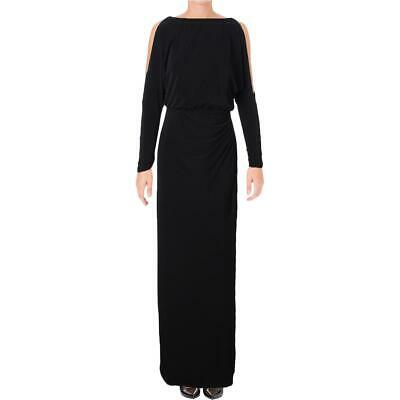 Lauren Ralph Lauren Womens Black Matte Jersey Evening Dress 2 BHFO 9222