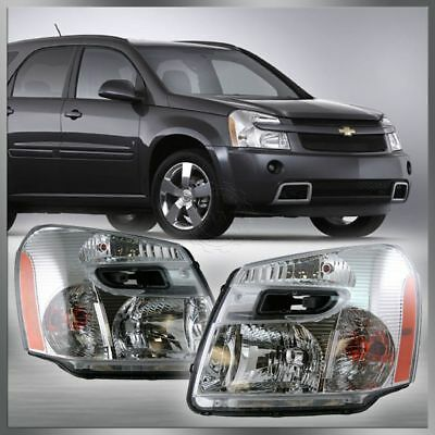 Headlights Headlamps Left & Right Pair Set of 2 for 05-09 Chevy Equinox NEW
