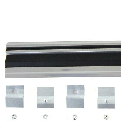 Lower Trim Panel - 67 Chevy Chevelle Rear End Tail Lower Panel Trim Molding w/ Clips & Nuts -M1484B