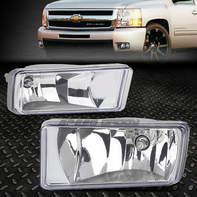 07 Chevrolet Silverado 1500 Light - FOR 07-15 CHEVY SILVERADO/TAHOE/SUBURBAN CLEAR LENS OE BUMPER DRIVING FOG LIGHT