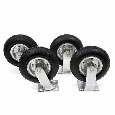4pcs 8 Pneumatic Air Tire Wheel 2 Rigid 2 Swivel Hd Farm Cart Caster Large