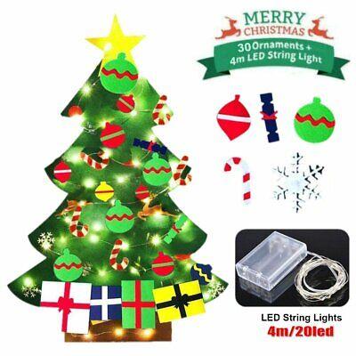3ft DIY Felt Christmas Tree Set Detachable Ornaments Wall Hanging Xmas Gift Kids