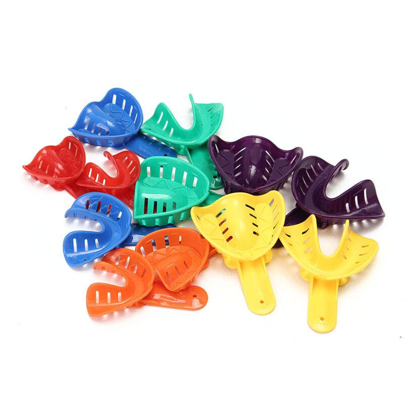 12 Pcs Dental Impression Autoclavable Tray Plastic 6 Sizes L/M/S Adult/Child U/L