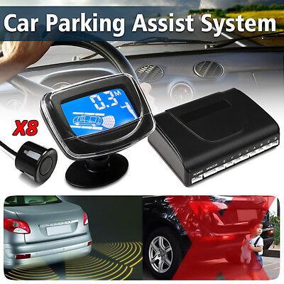 Parking 8 Sensors Car Reverse Backup Rear Buzzer Radar System Alarm w/ Monitor