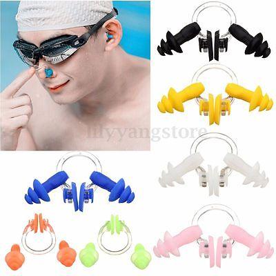 10 Set Wasserdichten Silikon Schwimmen Nasenklemme Ohr Plug Ohrstöpsel Zufällige