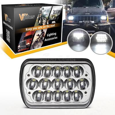 "Pack of 1 7x6"" LED HID Cree Sealed Beam Headlight H/L White 3200lm for GMC"