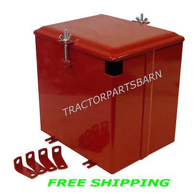 Ih Farmall Super A C Av A-1 Av-1 Battery Box New W Brackets 350634r91 358544r91