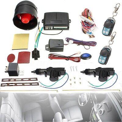 Universal Car Central  Lock Unlock Remote Kit   Alarm Immobiliser Shock Sensor