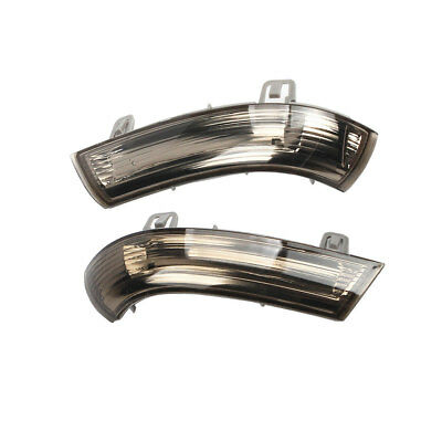Pair Mirror Turn Signal Indicator Light Smoked LED For VW Jetta Golf MK5 Passat