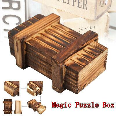 Compartment Wooden Puzzle Box Secret Magic Brain Teaser Educational Toys