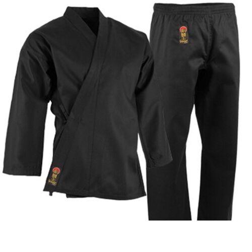 ProForce 7.5 oz. Medium Weight Uniform BLACK with White Belt Karate TKD Training