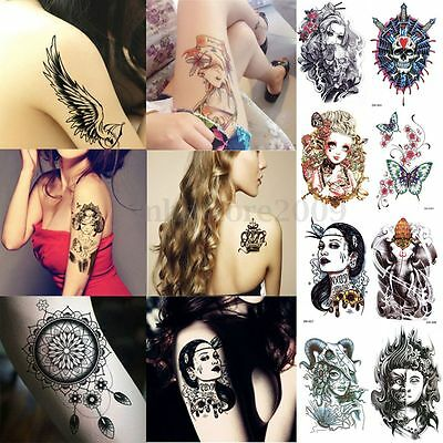 Large sexy  Waterproof Colorful Temporary Tattoo Body Arm Art Sticker Removable on Rummage