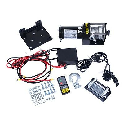 Classic 3000lbs 12V Electric Recovery Winch Truck SUV Wireless Remote Control