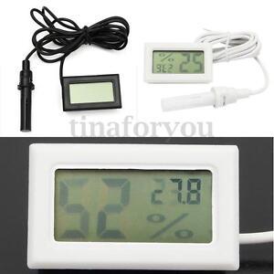 Mini Thermometer Hygrometer Humidity Digital LCD Monitor Probe for Egg Incubator
