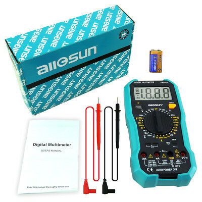 All-sun Em8910 Digital Multimeter Multi Tester Backlight Acdc Continuity Meter