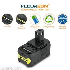 4.0Ah 18V Volt Lithium-Ion Battery for Ryobi 18V P108 P500 RB18L40 BPL18151 P780