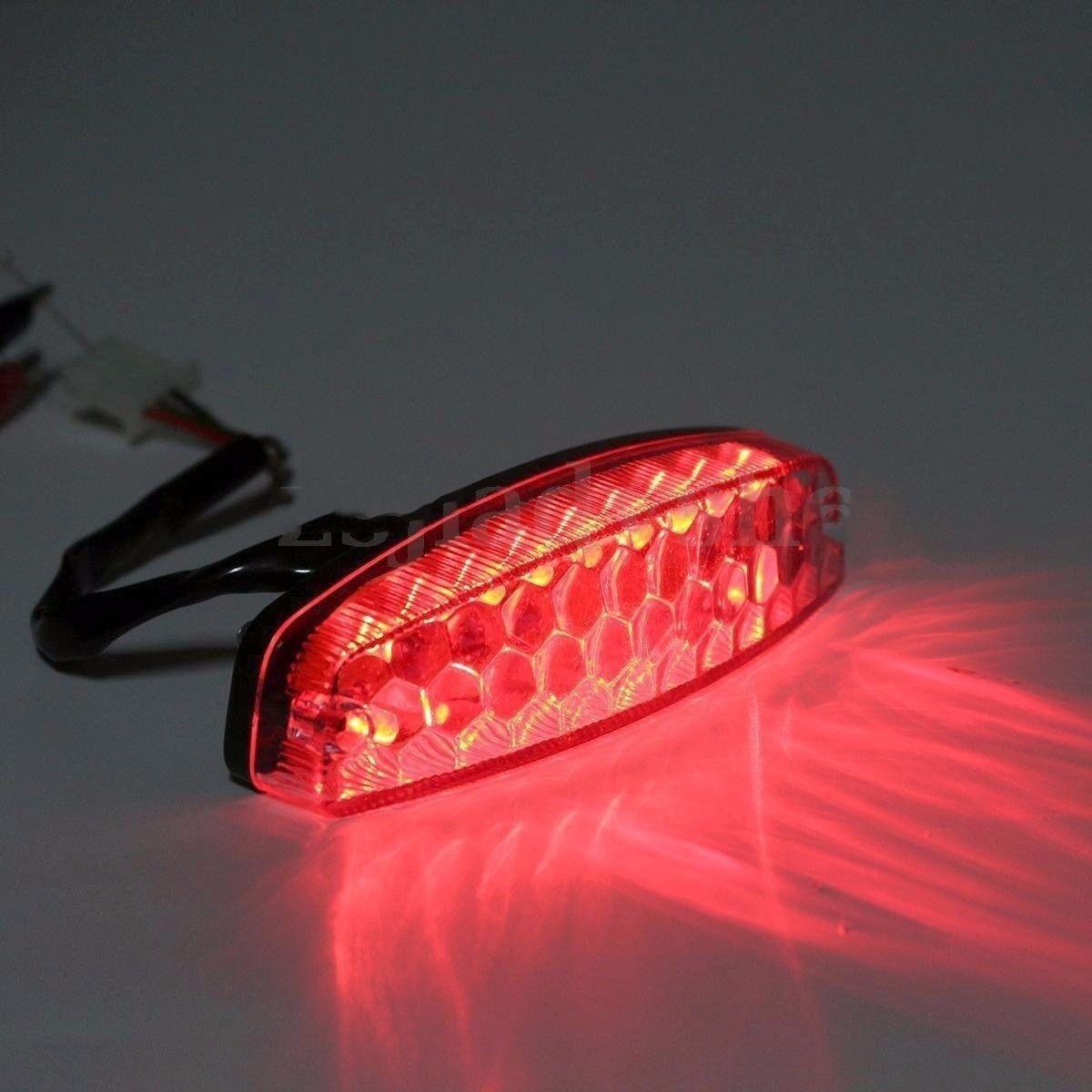 LED Rear Tail Brake Lights for 50cc 70 Cc 90cc 110cc 125cc 150cc ATV Quad TaoTao Roketa Baja Sunl Jonway