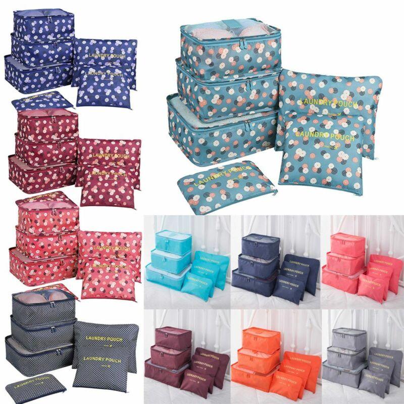 6Pcs/Set Travel Storage Bag for Clothes Luggage Packing Cube Organizer Suitcase